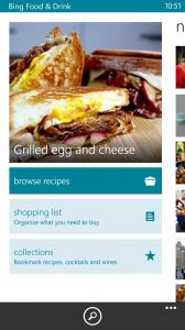Bing Food & Drink App